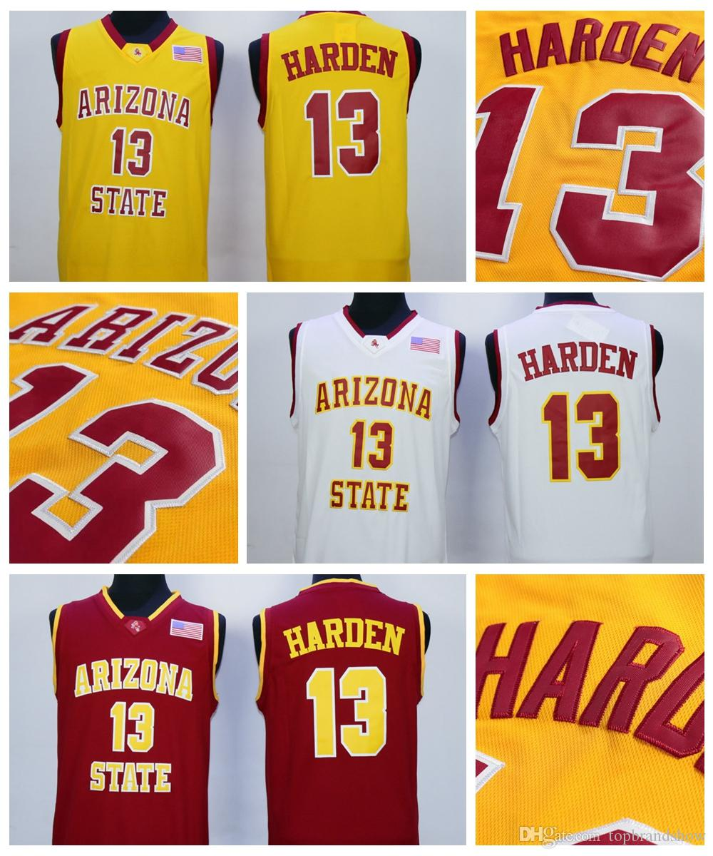 pretty nice f2a7a 8a1ed ireland sun devils 13 james harden white stitched ncaa ...