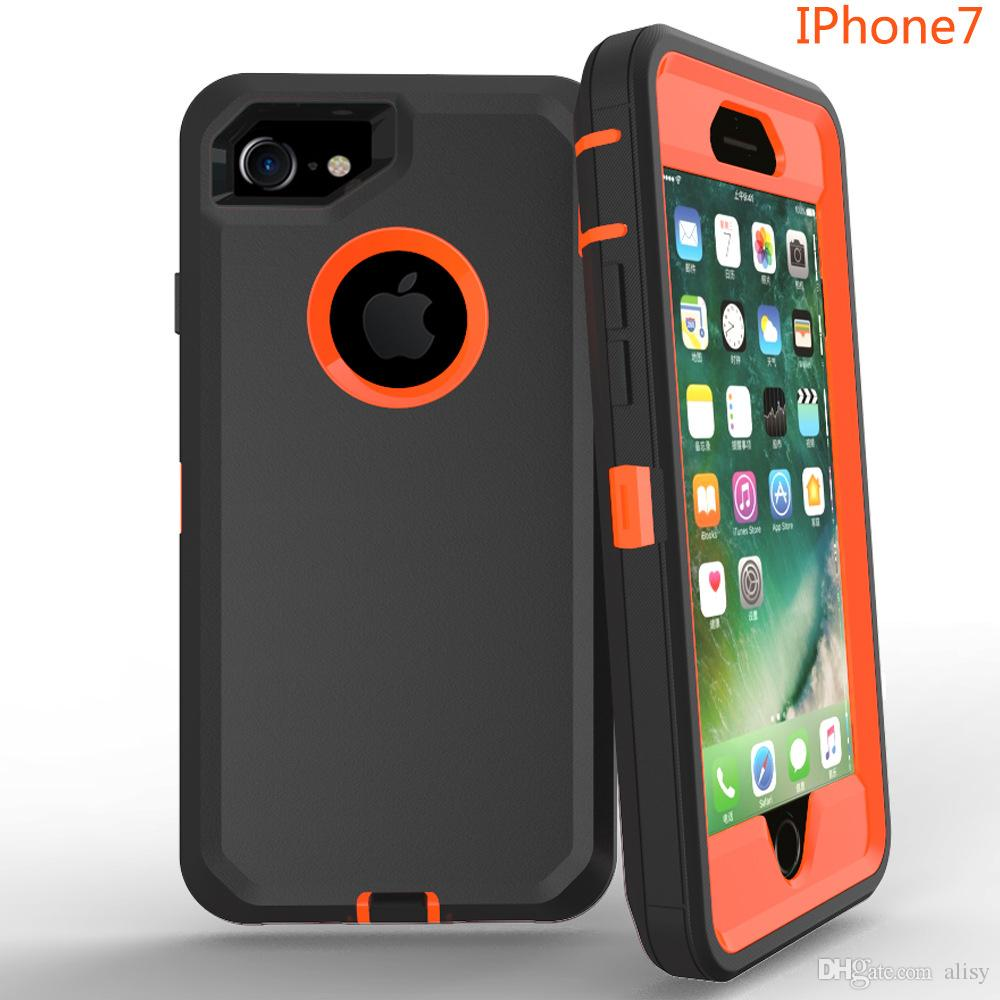 promo code 7c819 010f6 TPU PC 3 in 1 Robot Case for iphone X Samsung S9 Samsung S8 Defense Case  for iphone X No Clip