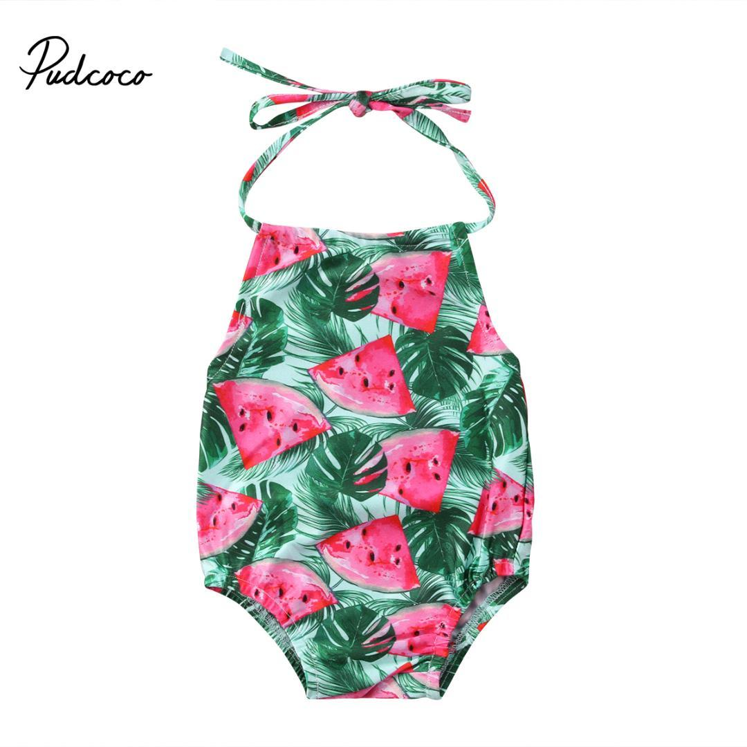 e70c7129f9 2019 2018 Brand New Infant Child Watermelon Toddler Kids Baby Girls  Swimwear Swimsuit Bathing Watermelon Beachwear Bikini 2 6T From Ferdimand,  ...