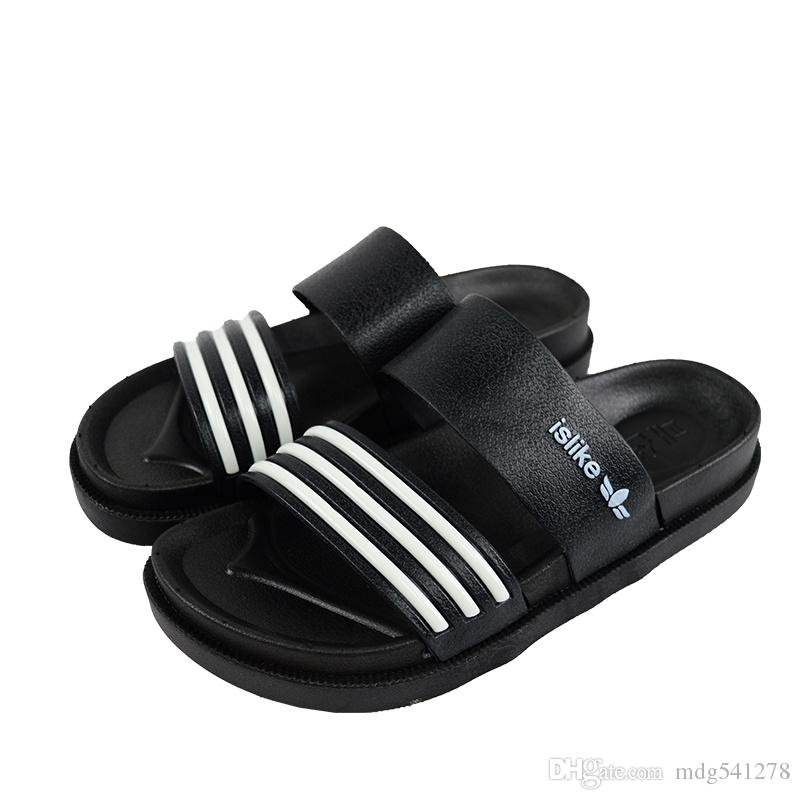 4a6496b29577 Sandals Men Fashion New Brand Mens Flip Flop Sandals Casual Slippers Black  White Summer Beach Sandals Men Shoes Breathable Brown Boots Winter Boots  For ...