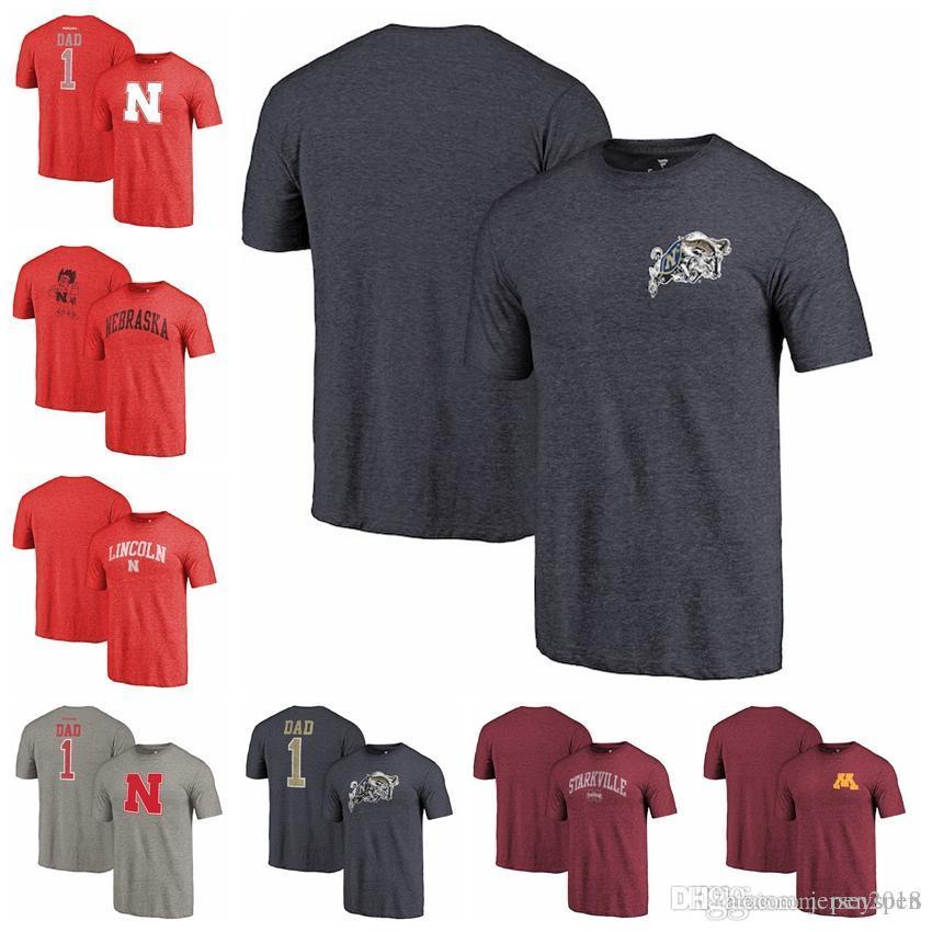 7f211372 2019 Fanatics Branded Idshipmen Mississippi State Bulldogs Minnesota Golden  Gophers Nebraska Cornhuskers Scarlet Greatest Dad Tri Blend T Shirt From ...