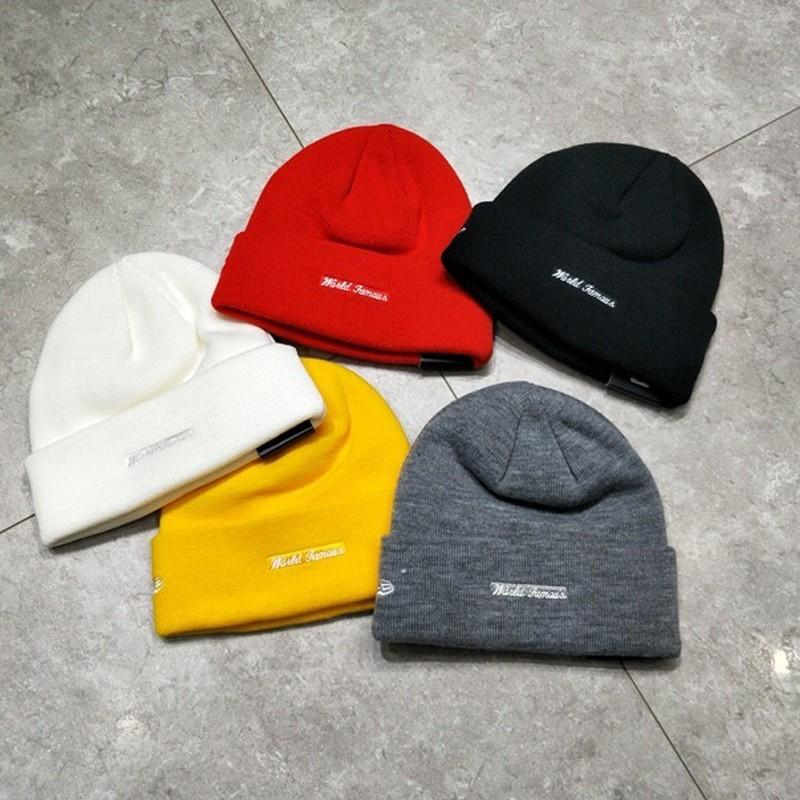 4c25e1d30ee 2019 18FW New Era Box Beanie Embroidery Big Logo Cold Hat Warm And  Comfortable Black Yellow White Red Gray HFSSMZ002 From Mirror home