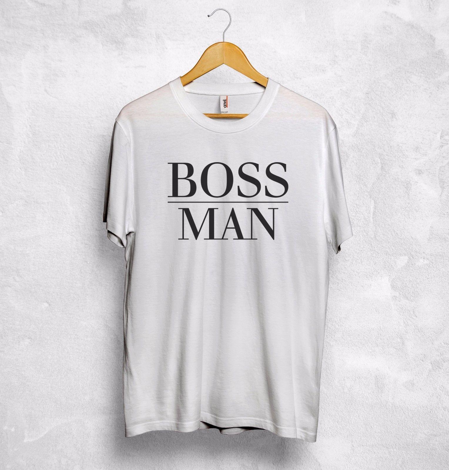 BOSS Man Lady T Shirt Girlfriend Wife Gift Valentines Hubby Husband Couple  Hip Hop men tshirt rock Unisex t shirt Fashion Tops Cool
