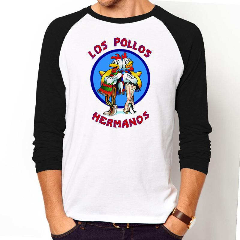 8acc3af0b Men'S Fashion Breaking Bad Shirt LOS POLLOS Hermanos T Shirt Chicken  Brothers Long Sleeve Tee Hipster Geek Swag T Shirt For Men Web T Shirts  Great Tee Shirt ...