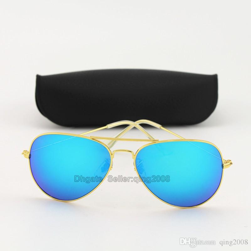 Classic High Quality Brand Designer Fashion Sunglasses For Men and Women Txrppr Gold/Purple Pilot Sun Glasses With Box and Case