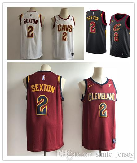 eca02d6d2 2018 2019 Mens 2 Collin Sexton Cleveland Jersey Cavaliers Basketball Jerseys  Stitched Embroidery Mesh Dense AU Collin Sexton Basketball Jerseys From ...