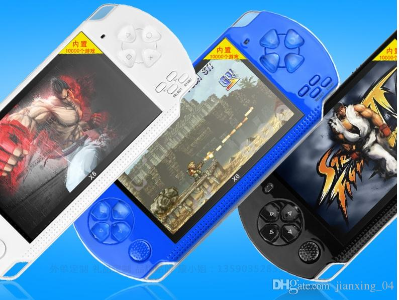 X6 4.3 Inch Handheld Game Console Portable Game Player 8GBWhite
