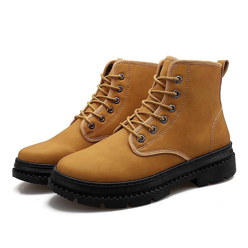 517b2a7675d3ec Acheter Mode Hiver Hommes Bottes De Randonnée Hiver Hommes Bottes Mâle  Peluche Oxfords Chaussures En Cuir Martin Casual Sneakers Tactique De  $44.82 Du ...