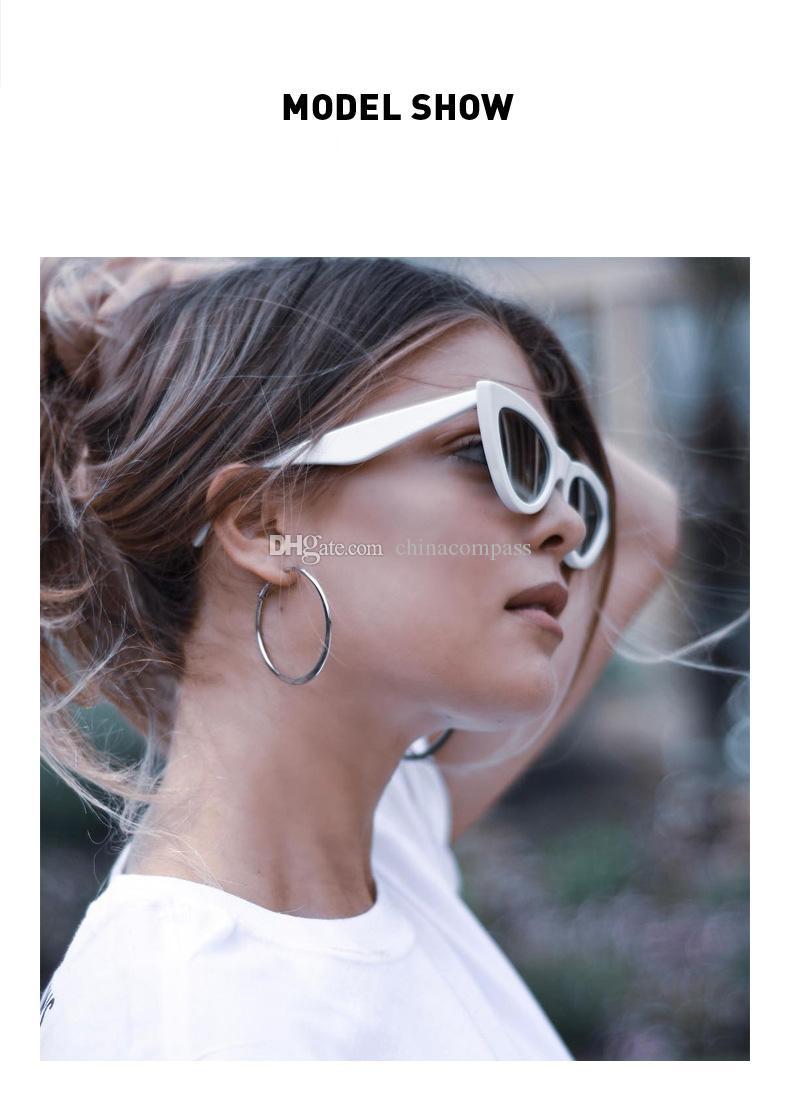 New Vintage Cat Eye Sunglasses Women Brand Designer Retro Sunglass Triangle Ladies Sunglass Mirror shades UV400