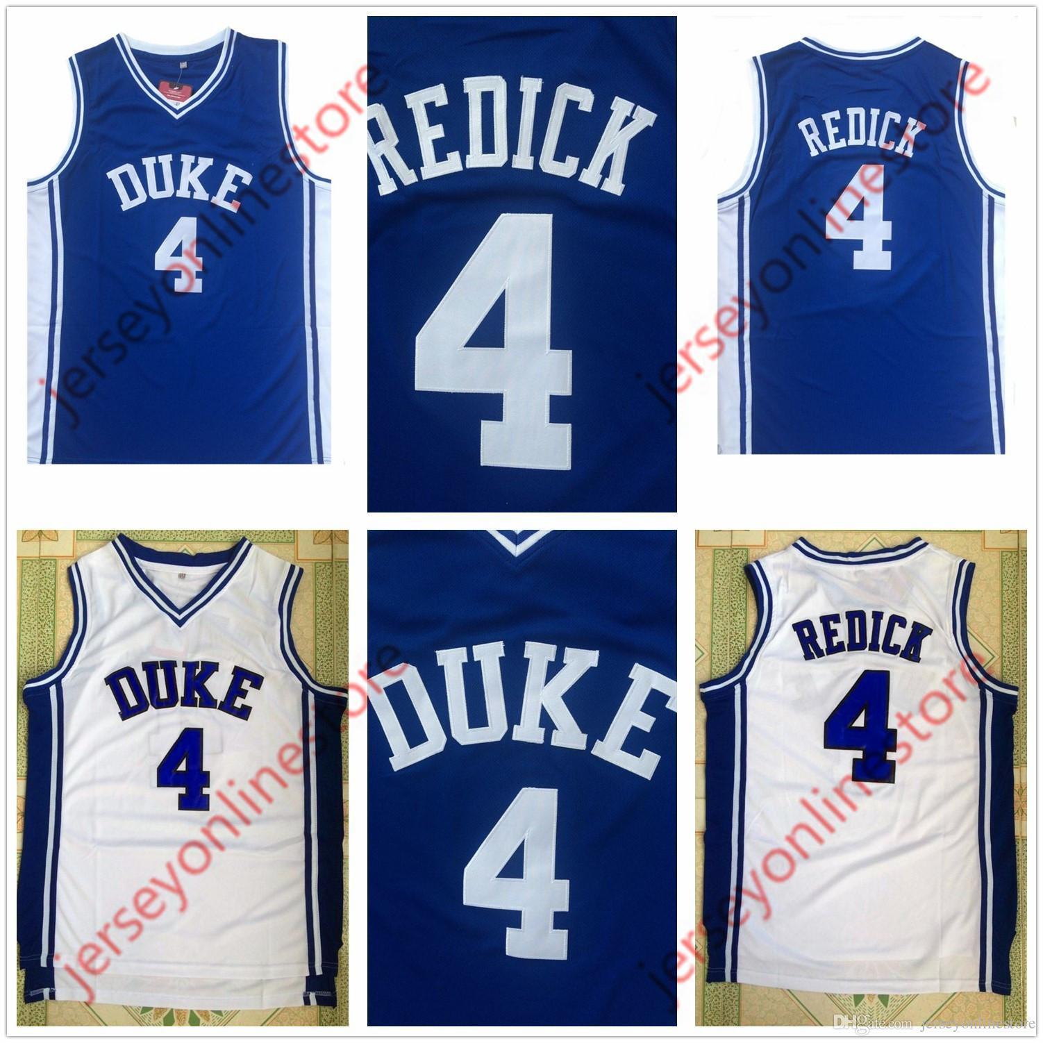 f5297563409f Großhandel Günstige Herren Duke Blue Devils 4   JJ Redick Jersey Blau Weiß  Genäht Großhandel Redick College Basketball Jerseys Von Jerseyonlinestore