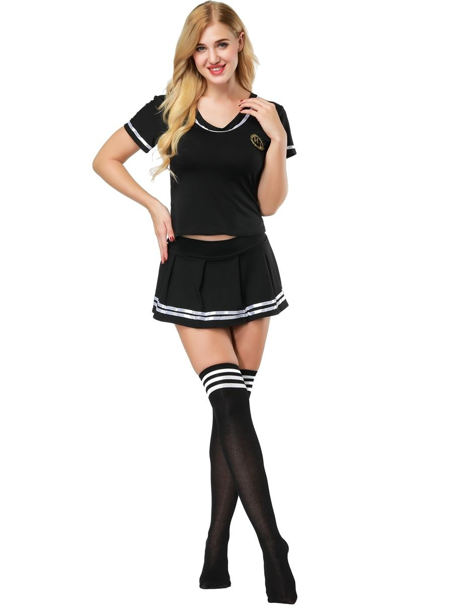 b84ea8855b S 4XL Women Sexy Sailor Suit Girl S Cosplay Student Uniform Sexy Football  Cheerleader Costume With Stocking 3S1819 C18111601 Bustiers And Corsets  Panties ...