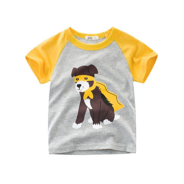 4ed1a7f7523d7 Wholesalers Children Clothing 2018 Summer Short Sleeved boys t shirts  Cartoon Dog Tops Tees 100% Cotton Printed shirts for boys 2-9 years