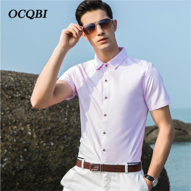 4fd3ee8b82 Compre Más El Tamaño 2018 Hombres De Verano Formal Elegante Casual Camisa  De Vestir De Estilo Coreano Hombres De Moda Ropa Delgada A  38.87 Del  Blueberry07 ...