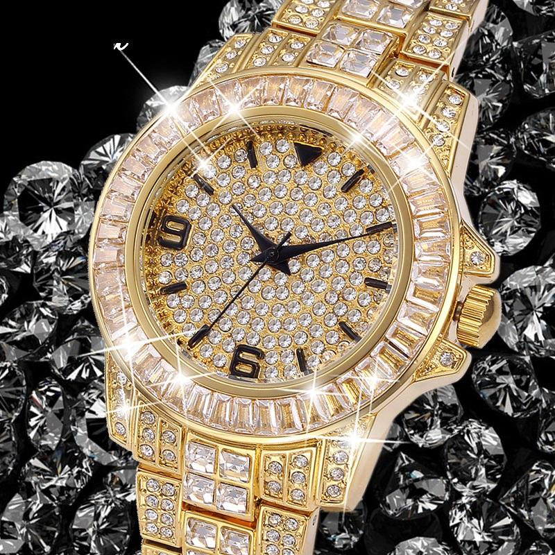 494a0b0426f4 Compre Rolexe Relojes Mujer Missfox Marca De Lujo De Oro Para Mujer Relojes  De Pulsera Para Mujeres Uhr Bling Diamond Reloj Analógico Femenino De Cuarzo  02 ...