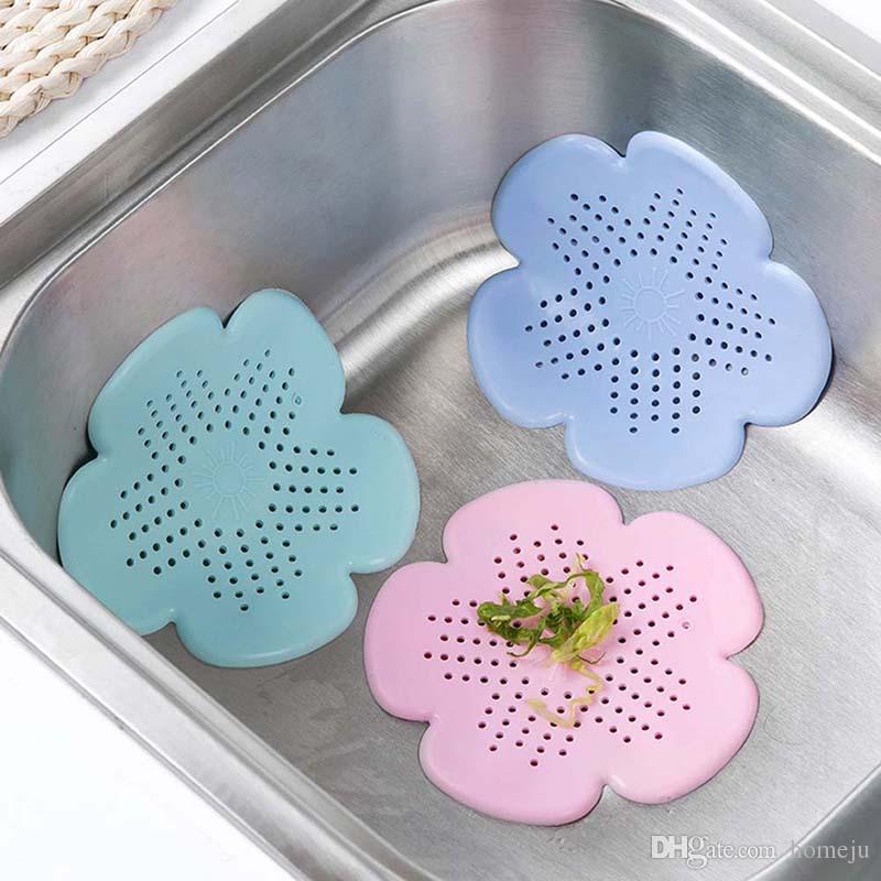 2018 Silicone Sink Drain Filter Bathtub Hair Catcher Stopper Shower ...