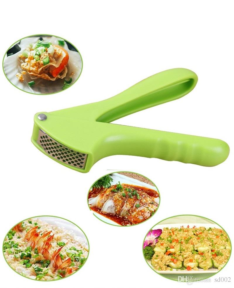Stainless Steel Garlic Presses Multifunction Creative Kitchen Vegetable Tool Efficient Sharpen Ginger Dermabrasion Prop Factory Direct 4xz X