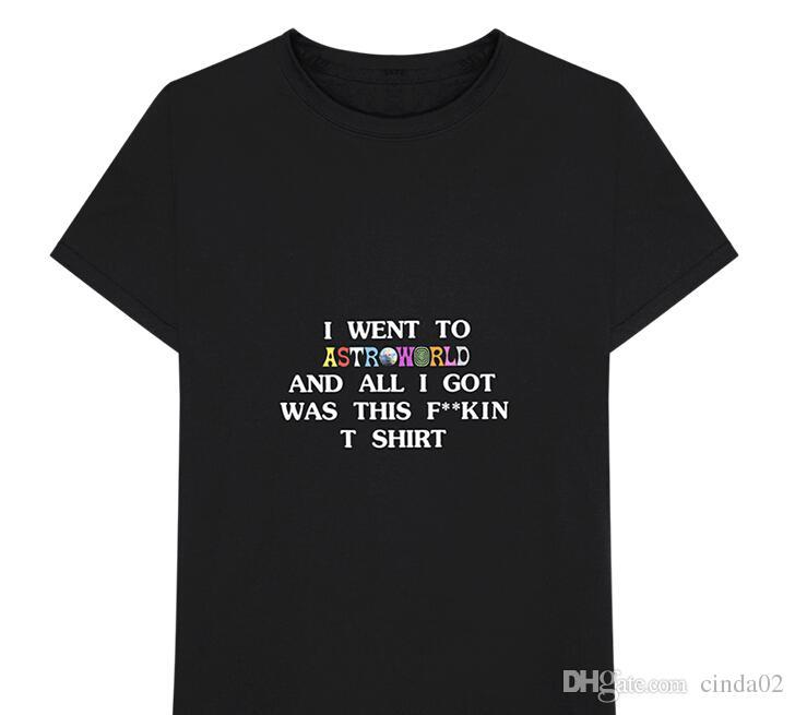 f619cb7462bd Letters Printing Cotton T-Shirts Travis Scott Astroworld GOV BALL NYC -shirt  Mens And Womens Tops Tee Online with $39.98/Piece on Amsmart's Store |  DHgate. ...