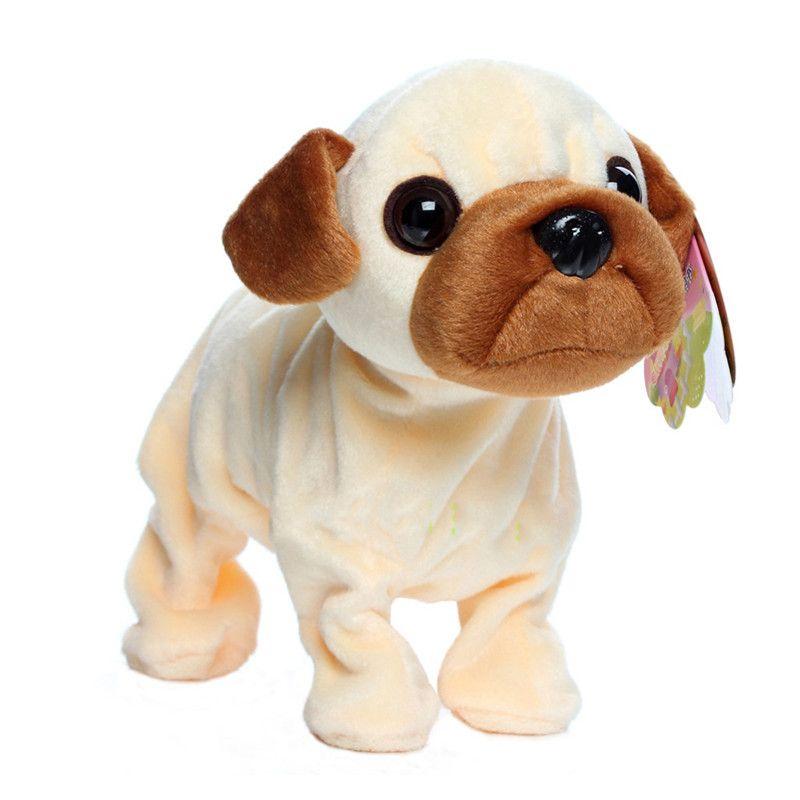 Электронные Домашние Животные Управления Звуком Робот Собаки Кора Стенд Прогулка Симпатичные Интерактивные Собаки Электронные Хаски Пудель Пекинес Игрушки Для Детей