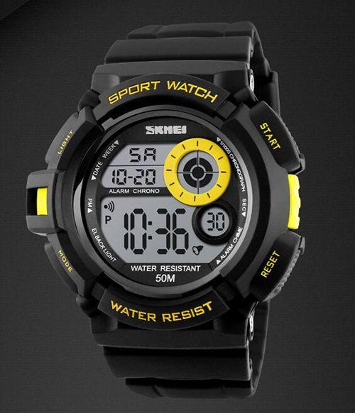Outdoor sports climbing waterproof electronic watch Fashion men's multifunctional student watch.