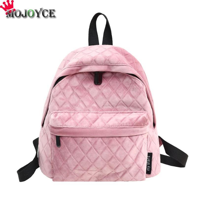 Mini Plaid Velvet Backpacks Women Girls Pure Color Casual Zipper School  Travel Backpacks Mochilas Mujer 2018 Army Backpack Water Backpack From  Wearbag 6cff92a564ad9