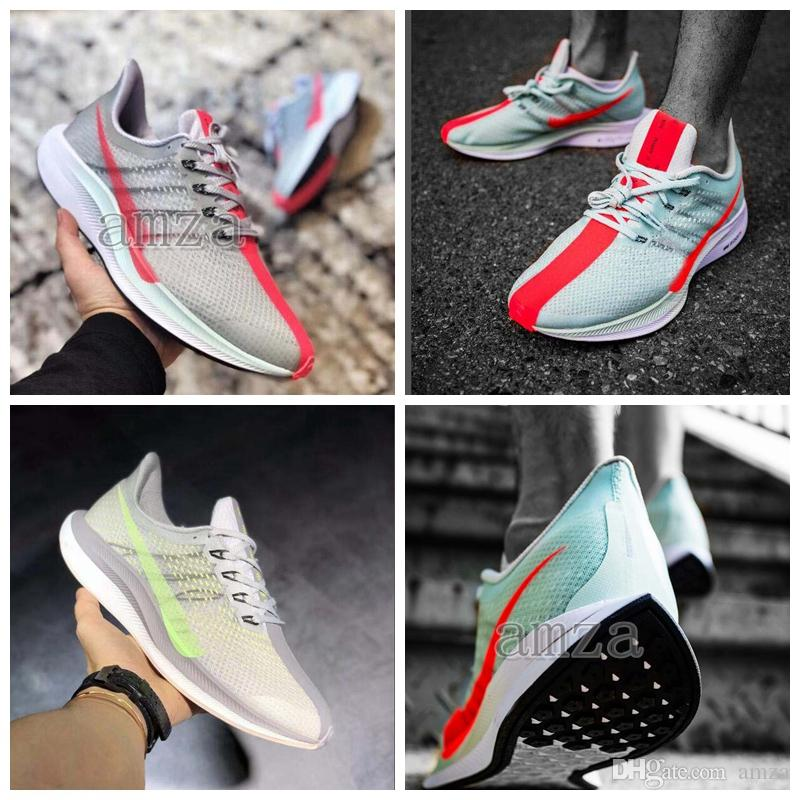 wholesale dealer b19db e43ab 2018 Air Trainers Zoom Pegasus Turbo 2.0 Barely Grey Hot Punch Black White  Running Shoes Mens Women React ZoomX Vaporfly Pegasus 35 Running  Accessories ...