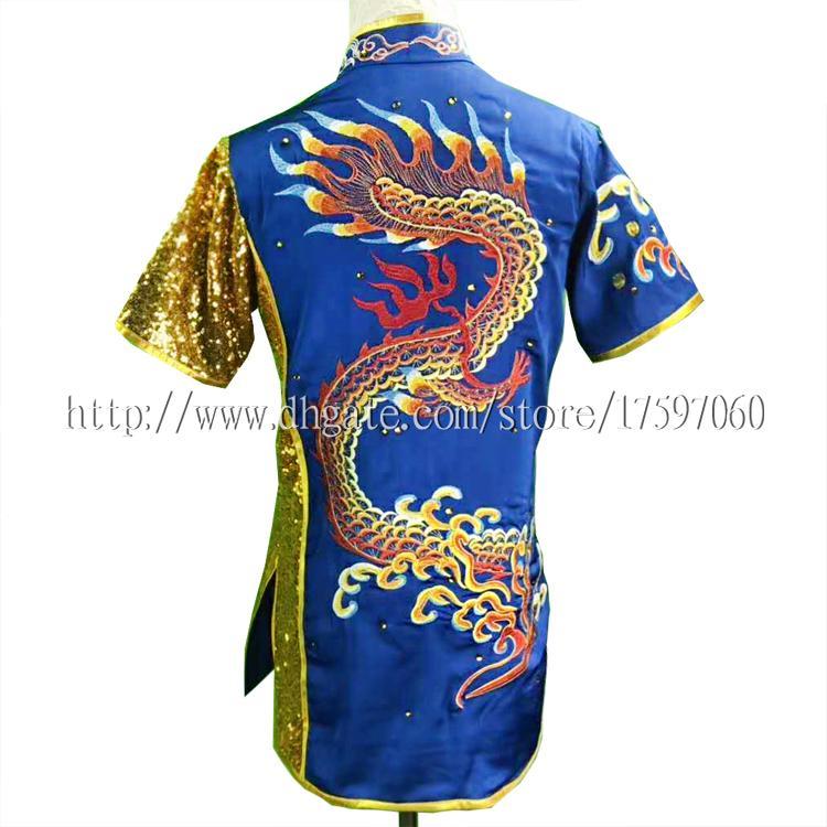 Uniforme de Wushu chinois Kungfu s'habille en taolu Tenue des arts martiaux Compétition kimono Vêtement de routine pour hommes femmes garçon fille enfants adultes