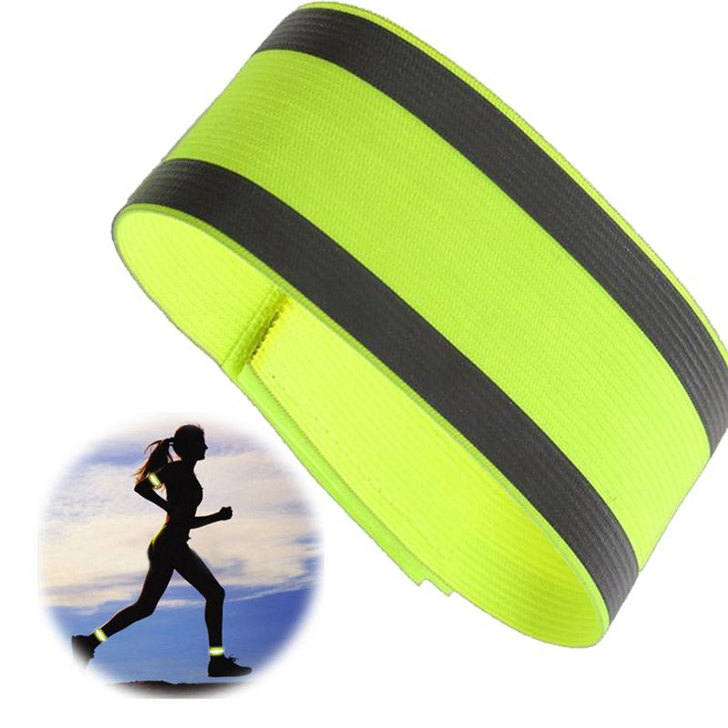 Running Arm Warmers Running Night Reflective Safety Belt Night Run Armband For Outdoor Sports Night Running Cycling Jogging Arm Strap Luminous Arm Band Special Buy