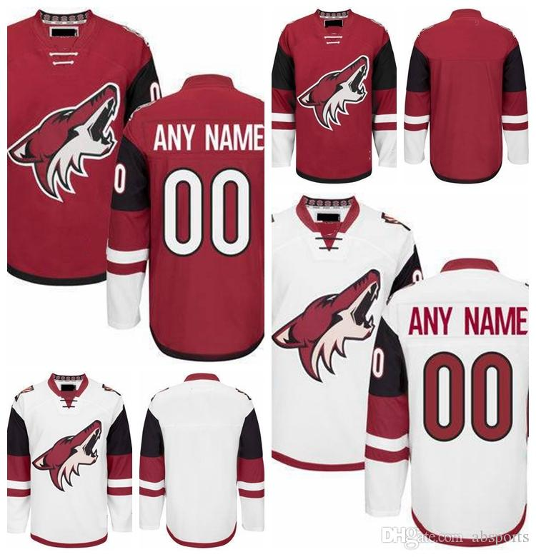 sneakers for cheap 75744 4f5ff ... custom arizona coyotes mens red home white away hockey jersey 23 oliver  ekman larsson 16 max