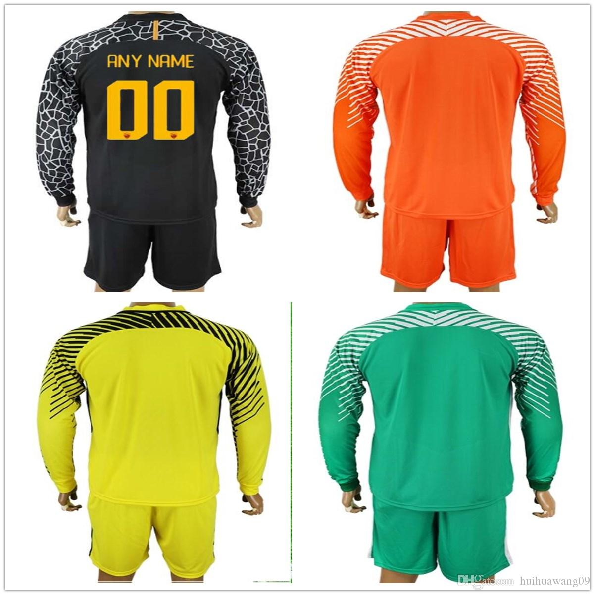2019 2017 2018 Adults Long Rome  1 Alisson Goalkeeper Jersey Soccer Sets  Romagnoli Lobont Skorupski Goalie Football Keeper Jerseys Kits Uniform From  ... 34085d6e0