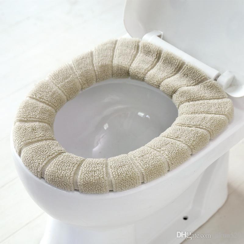 Couverture de siège de toilette confortable lavable Closestool lavable  Modèle de citrouille solide standard Velours Corail souple Coussin  Accessoires