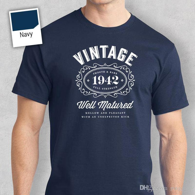 75th Birthday Gift Present Idea For Boys Dad Him Men T Shirt 75 Tee 1942 And Woman Cool Shirts Design Designs From Linnan006