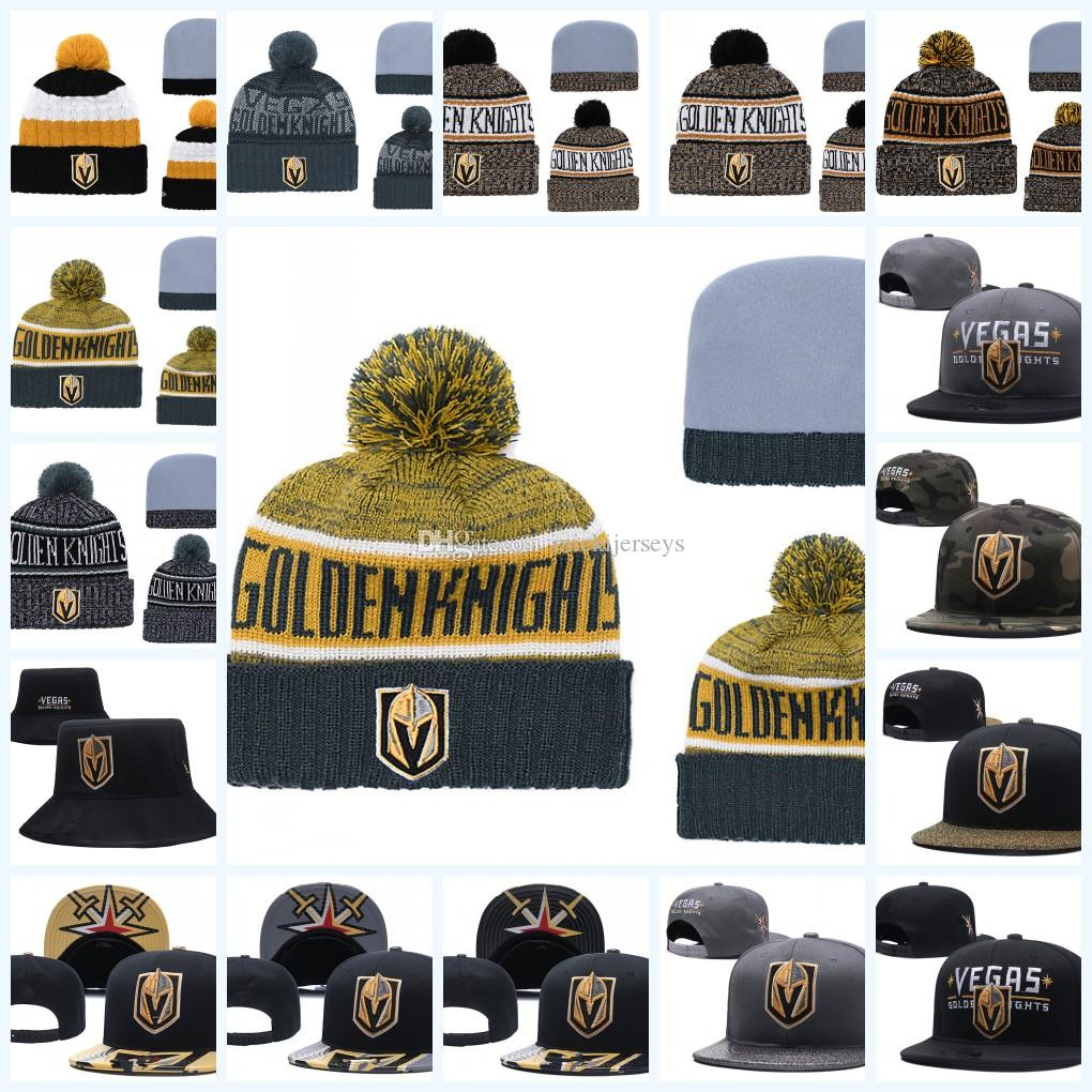 ea64db13b1a ... authentic 2019 vegas golden knights knit hat white grey red black vegas  golden knights snapback caps