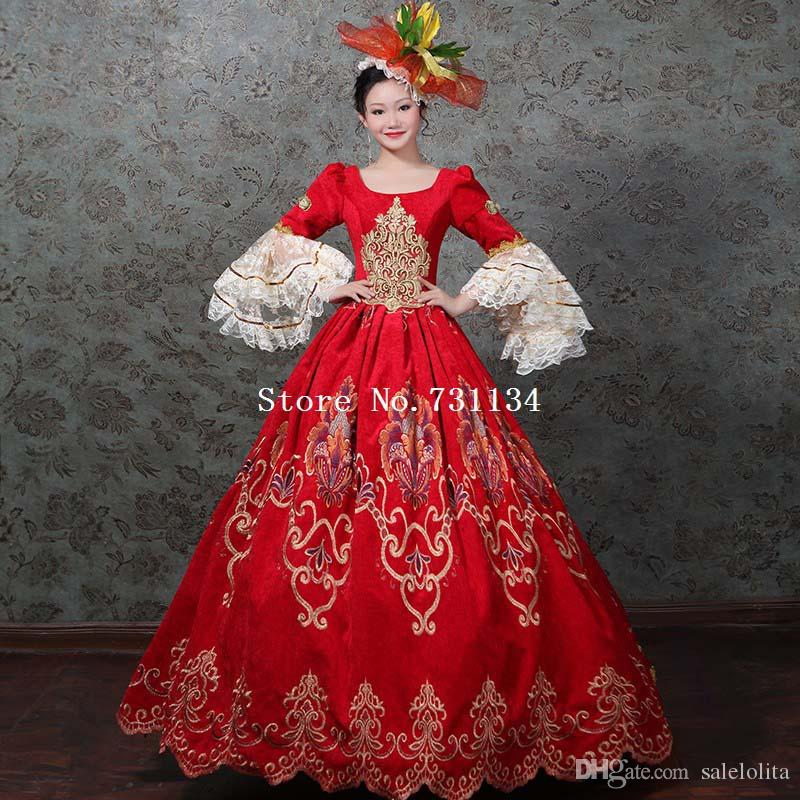 18th Century White Satin Brocade Marie Antoinette Period Dress Ball Gown We Take Customers As Our Gods Women's Clothing