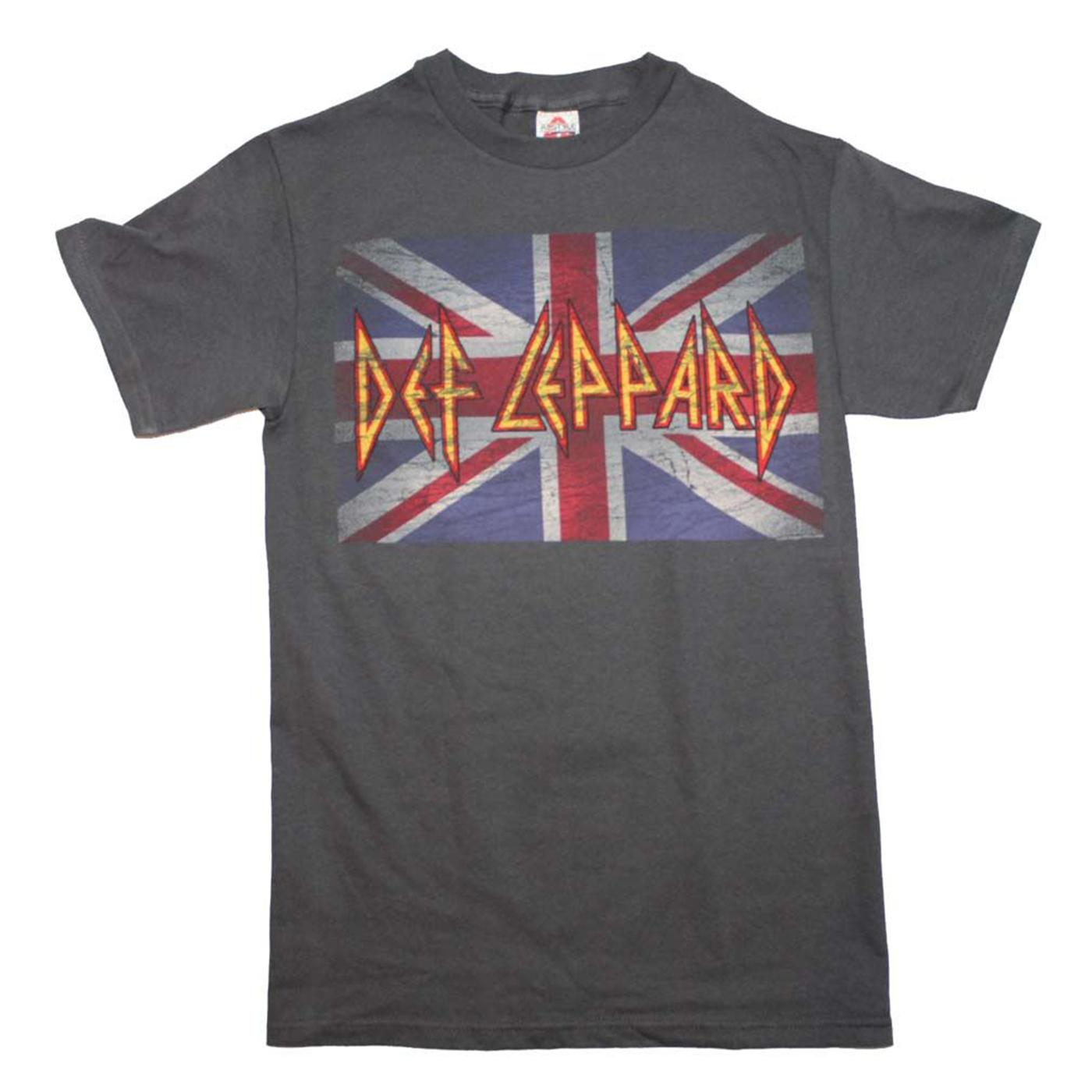 8759f5acf51 Def Leppard Band Logo British Flag T Shirt Mens 100% Cotton Short Sleeve  Print Pride Of The Creature T Shirts Basic Tops Really Funny T Shirts Funny  Vintage ...