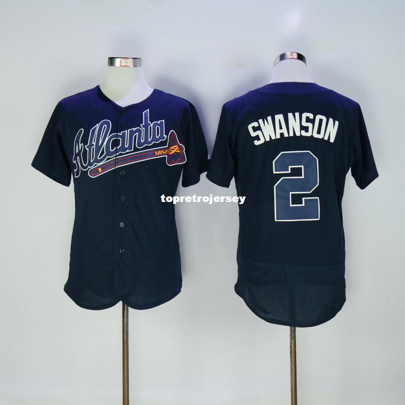 2 Dansby Swanson Flexbase Jersey 2016 Blue White Red Stitched Cheap Baseball  Jersey Custom Baseball Jersey Wholesale Baseball Jersey Online with ... 7aad1bd21c