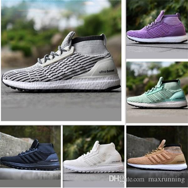 cheap new With Box Ultra Boost Atr Mid UB Triple Black White Primeknit Casual Shoes Ultra Boost Atr Mid UB Casual Sneakers cheap sale 2015 new V3edQwW