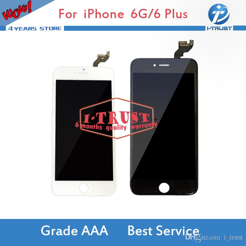 LCD display for iphone 6 4.7inch & 6 Plus 5.5inch Grade A +++ LCD screen replacement with touch digitizer & free shipping