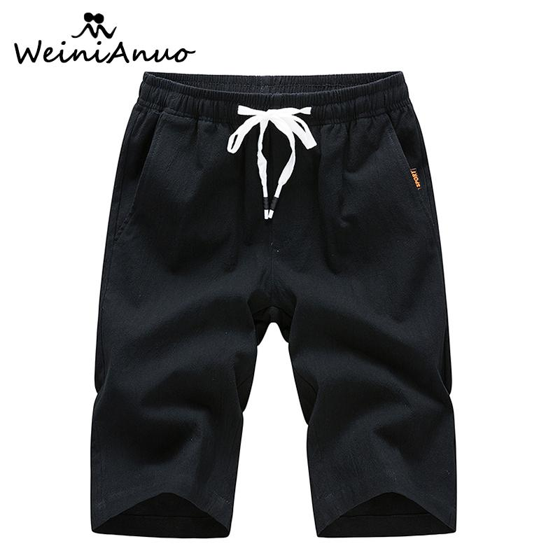 bdcca6611e WEINIANUO Cotton Slim Fit Casual Shorts Men Brand Boardshorts Mens Short  New Shorts Men Hot Sale Male Summer Bottoms Short 333