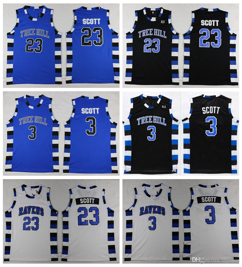2019 Mens One Tree Hill RAVENS 23 Nathan Scott 3 Lucas Scott Basketball  Jerseys Cheap One Tree Hill Movie Stitched Basketball Shirts From Tryones 245b34b2e