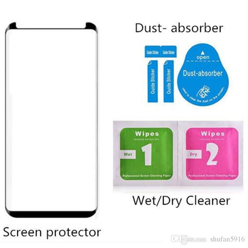 For New Iphone XR XS max X 8 7 6 6S Samsung S9 Note8 S8 Plus galaxy Note 9 8 Tempered Glass Full Screen color Protector 3D Curved S7 Edge