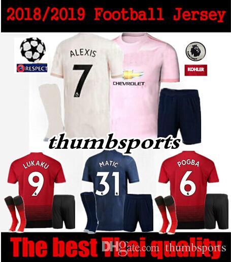 ... australia 18 19 manchester united men kit soccer jersey alexis lukaku  2018 2019 matic pogba home 310049720