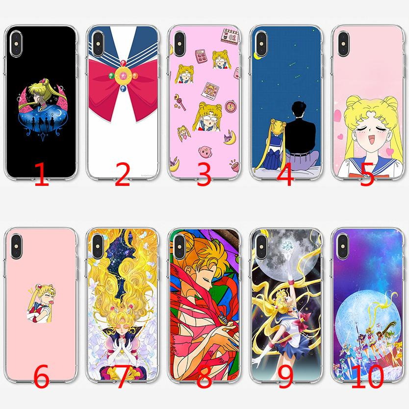 watch fb44e ce4dd Guardian Sailor Moon Soft Silicone TPU Case for iPhone X XS Max XR 8 7 Plus  6 6s Plus 5 5s SE Cover