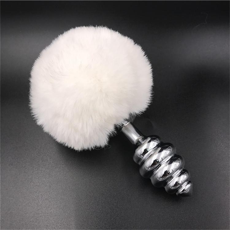 857654aabf8 White Rabbit Bunny Tail Sex Products Alloy Stainless Steel Woman Anal Butt  Jewelry Plug Anal Sex Toy For Women And Men D18111502 Anal Toy Strapons  From ...