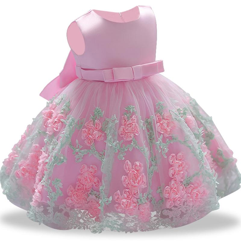 ed212433c3c1 2018 Vintage Baby Girl Dress Baptism Dresses For Girls 1st Year ...