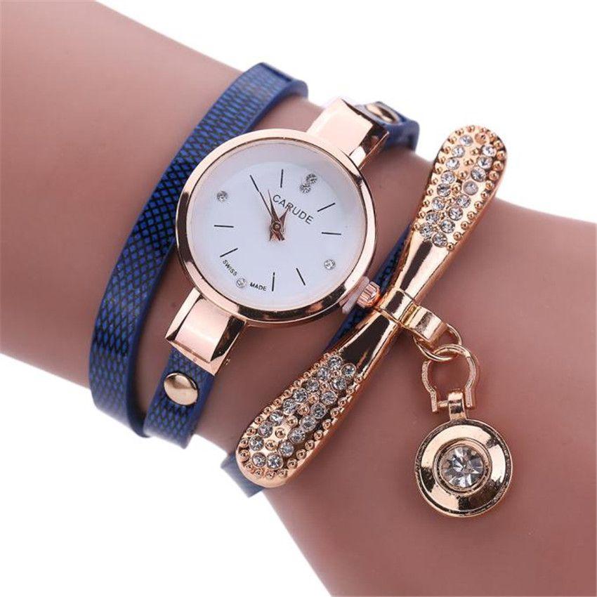 4cab974f3e4 Aimecor Women Watches Casual Bracelet Watch Fashion Relogio Leather  Rhinestone Analog Quartz Watch Female Montre Femme Watch Shopping Best  Deals On Watches ...