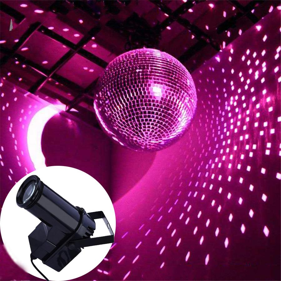 Thrisdar 10w Rgb Led Pinspot Spotlight Beam Stage Light Ktv Disco Dj Party Wedding Lamps Mirror Ball Reflection Lights For
