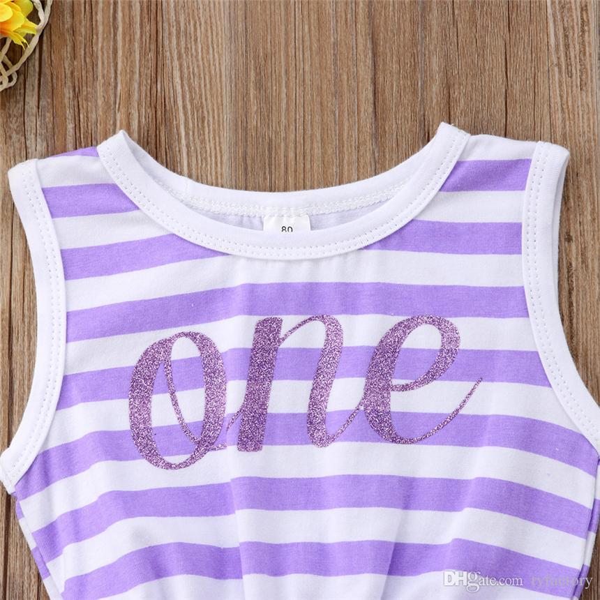 Two color baby girl princess stripe tutu dresses sleevless sundress bowknot tulle summer children clothing pink purple vestidos dress