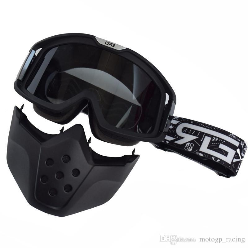 1d742709034a3 Compre Óculos De Motocross Tubarão Máscara De Verão Da Motocicleta Óculos  Mulheres Homens Gafas De Segurança Masque Moto Proteção Da Bicicleta Da  Sujeira ...