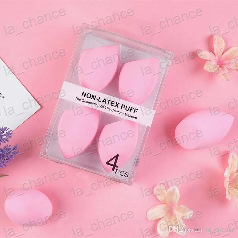 DHL free 2018 New Arrival 4PC/Set NON-LATEX PUFF the completion of the contour makeup puff egg in stock with good quality