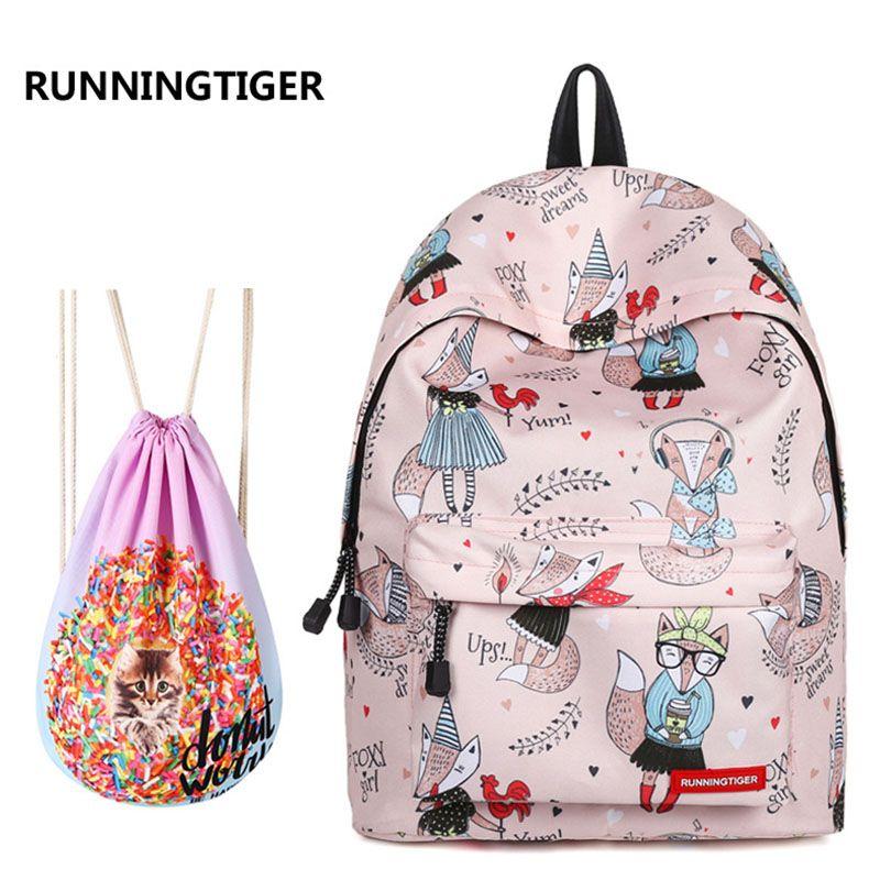 3020eaeb1845 School Backpack For Girls Fox College Bookbags For Women Travel Laptop  Backpack Teen Backpacks Classic Water Resistant Daypack